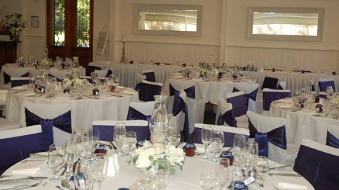 Nearly all ready for Alicia and James' wedding on Saturday