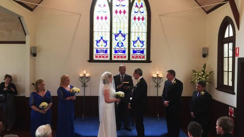 Deidre and Geoff's wedding and reception yesterday at WhiteChapel