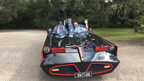 "The sun shone, the birds sang and the Bat Mobile arrived (with ""Robin""). We had …"
