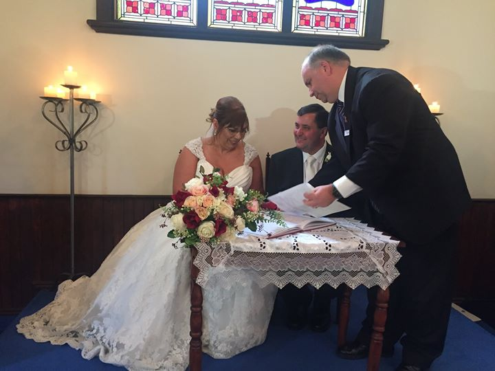Happy 1st anniversary to sherryn & geoff. hope youve had a lovely